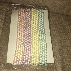 💐NWT 4 Pastel Colored Hairbands